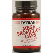 Twinlab 1097773 Mega Bromelain Caps - 60 Capsules