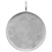 Base Elements Circle Pendant 39mm 1/Pkg-Silver Overlay