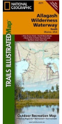 National Geographic Maps TI00000401 Allagash Wilderness Waterway South Map