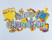 Rite Lite BD-13148 3D Happy Chanukah Decoration with Glitter Accents