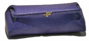 Budd Leather 552201L-17 Framed Lizard Calf Cosmetic Case - Lilac