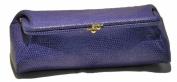 Budd Leather 552201L-17 Framed Lizard Calf Cosmetic Case - Lilac