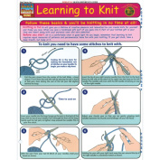 BarCharts- Inc. 9781572228559 Learning To Knit- Pack of 3