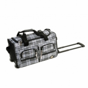 Rockland PRD422-PinkCross 22 in. Rolling Duffle Bag