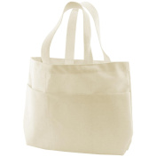 Canvas Corp 448605 Canvas Small Pocket Tote Bag 23cm . x 7cm . x 25cm . -Natural