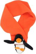 BearHands S-PNG-ORA Scarf Fleece Penguin on Orange