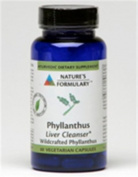 Natures Formulary 0813683 Phyllanthus - 60 Vegetarian Capsules