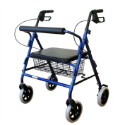 Karman Healthcare R-4800W-BL Heavy Duty Rollator-Blue