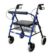 Karman Healthcare R-4800W-BL Heavy Duty Rollator-Blue