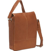 Piel Leather 2875 Urban Vertical Messenger Bag - Saddle