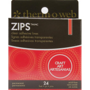 Zots Zips Clear Adhesive Lines, Craft, 3.7mL x  .  cm W x 0.2cm Thick, 2pc