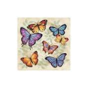 "Dimensions ""Butterfly Profusion"" Counted Cross Stitch Kit, 28cm x 28cm"