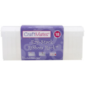 Craft Mates Ezy-Stack Ribbon Rack 17 Compartments-10cm x 26cm X4.60cm