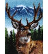 Caron Classics Latch Hook Kit, Deer