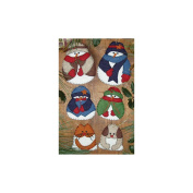 Snow Folk Ornaments Kit, Set of 6