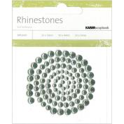Kaisercraft RS406 Self-Adhesive Rhinestones 100-Pkg-Blue Grey -Light Green