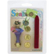 Decorative Sealing Set with Red Wax, Christmas Tree, Holly & Snowman