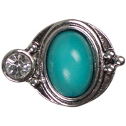 Cousin Snap in Style Metal Accent, Turquoise Teardrop
