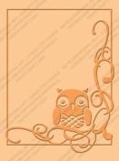 Provo Craft 409589 Cuttlebug A2 Embossing Folder-Owl Flourish