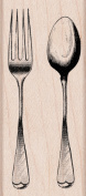 Hero Arts Mounted Rubber Stamps 5.1cm x 3.8cm -Fork and Spoon