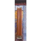 GENERAL PENCIL General's Pastel Chalk Pencils, 4/Pkg, Cool Colours