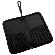 Royal Brush Keep N' Carry Zippered Brush Carrier, Short Handle, Black