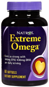 Natrol Heart Health Extreme Omega Fish Oil 1 200 mg Lemon Flavoured 60 softgels 221287