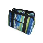 JanetBasket Blue Stripes Eco Bag, 46cm x 25cm x 30cm