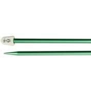 Silvalume Single Point Knitting Needles, 35.6cm , Size 10.5, Medium Green