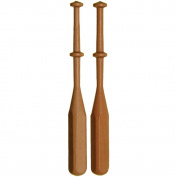 Lacis Square Lace Bobbins, 1cm x 10cm , Hardwood, 24-Pack
