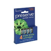 Preserve Personal Care Triple Razor Replacement Blades 4 count 6 pack Razors 222440