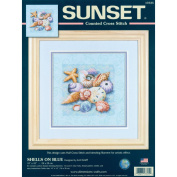 Dimensions Shells On Blue Counted Cross Stitch Kit, 25cm x 25cm