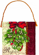 Dimensions Gold Collection Petites Mistletoe Ornament Counted Cross Stitch, 17.8cm x 17.8cm , 18-Count