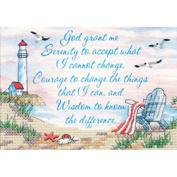 Dimensions Serenity Prayer Mini Stamped Cross Stitch Kit, 18cm x 13cm