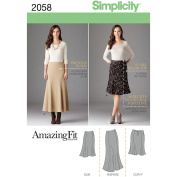 Simplicity Pattern Misses' and Plus Size Amazing Fit Skirt,