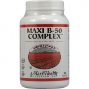Maxi Health Kosher Vitamins 0421891 Maxi B-50 Complex - 100 Maxi Caps