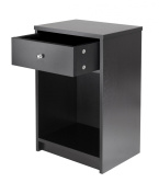 Winsome Trading 20914 Squamish Accent table with 1 Drawer Black Finish