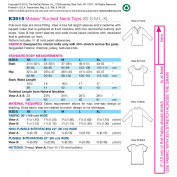 Kwik Sew Pattern Ruched Neck Tops,