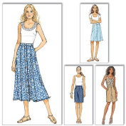 Butterick Pattern Misses' Skirt and Shorts, FF