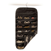 Richards Homewares Satin Thirty Seven Pocket Jewellery Organiser-Black