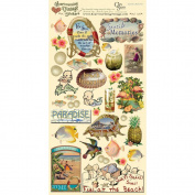 Heartwarming Vintage Cardstock Stickers 15cm x 30cm Sheet-Seaside Memories