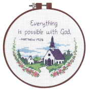 "Dimensions Learn-A-Craft ""Everything Is Possible"" Counted Cross Stitch Kit, 15cm"