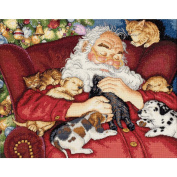"""Dimensions Gold Collection """"Santa's Nap"""" Counted Cross Stitch Kit, 38cm x 30cm"""