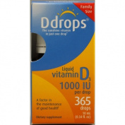 Ddrops 1072883 D Drops Liquid Vitamin D3 - 1000 IU - 0.34 fl oz