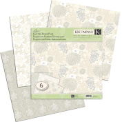 K&Company Elegance Glitter Paper Pack, 30.5cm x 30.5cm , 6 Sheets