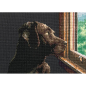 "Dimensions Gold Collection Petite ""Pondering Pup"" Counted Cross Stitch Kit, 18cm x 13cm"