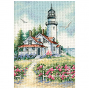 "Dimensions Gold Collection Petite ""Scenic Lighthouse"" Counted Cross Stitch, 13cm x 18cm"