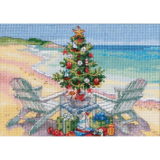 "Dimensions Gold Collection Petite ""Christmas on the Beach"" Counted Cross Stitch Kit, 18cm x 13cm"