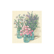 "Dimensions ""Wildflower Trio"" Counted Cross Stitch Kit, 28cm x 30cm"