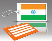 Insight Design 770556 TagCrazy Luggage Tags- India Flag- Set of Three